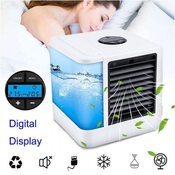 USB Mini Portable Air Conditioner 375ML Air-01001 White /Blue/Grey