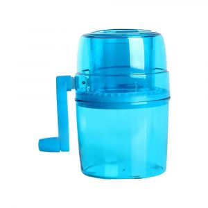 Manual Ice Shaver and Snow Cone Maker, Portable Ice Crusher Machine Kitchen Tool Blue