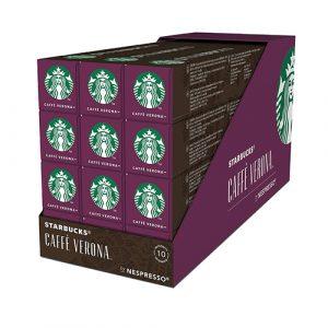 Starbucks Caffe Verona by NESPRESSO Dark Roast Coffee Capsules- 12 Sleeves