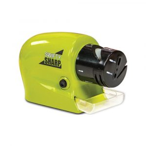 Cordless Motorized Knife Sharpener Green/Black/Clear