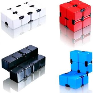 Antistress Infinite Cube Office Flip Cubic Puzzle Stress Reliever Autism Toys Relax Toy for adults set of 6(Multi color)