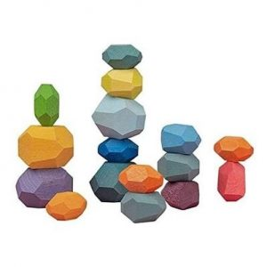 Pack Of 16 Wooden Stacking Stones